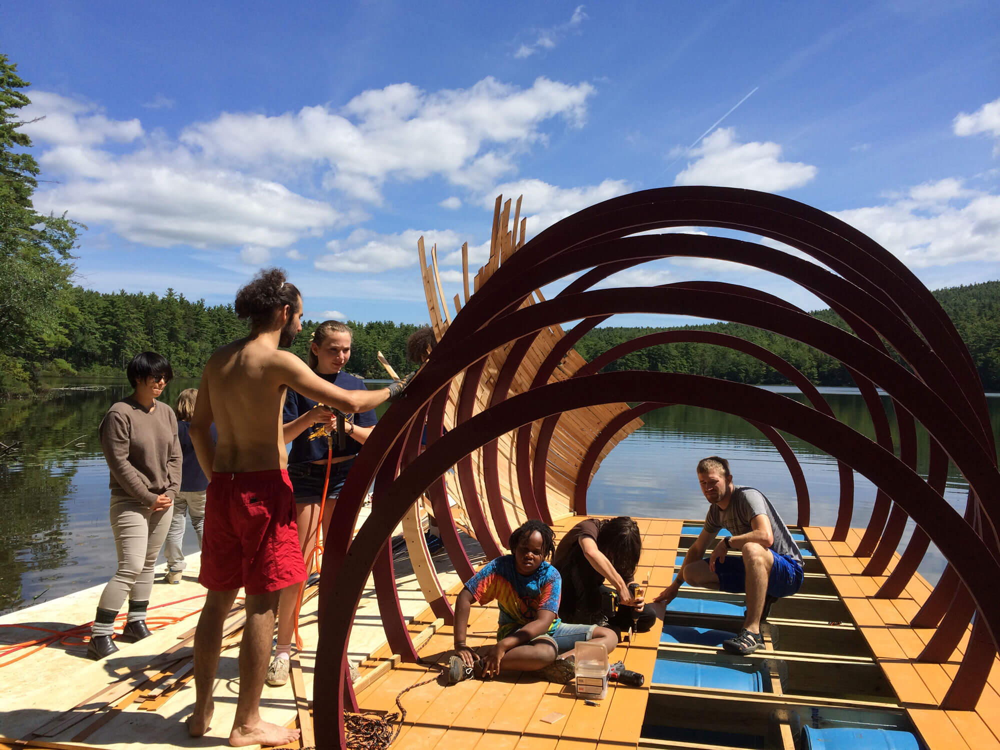 Creatura floating timber structure